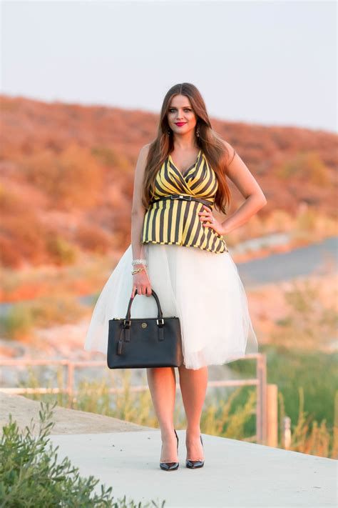 bumpstyle tulle skirt amp striped halter top