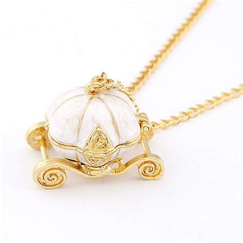 Sweety Gold S36 Free 6 new sweet pumpkin carriage necklace cinderella tale