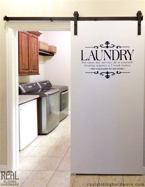 laundry room barn door hardware traditional dallas