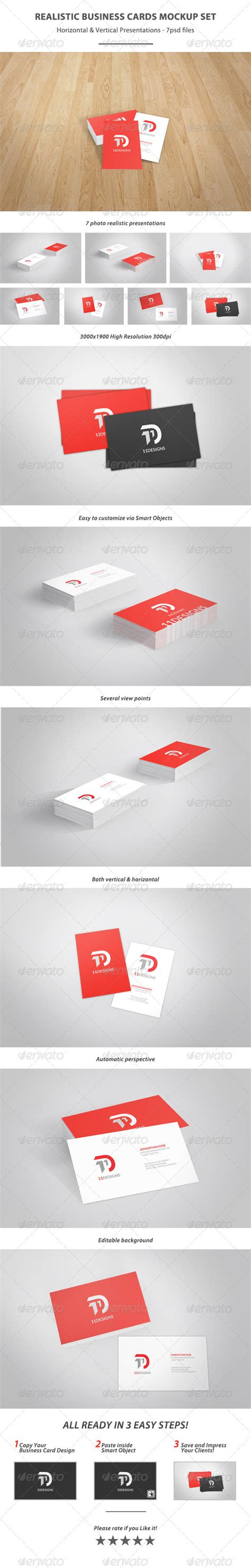 3 realistic business cards mockup templates realistic business card mockup set graphicriver
