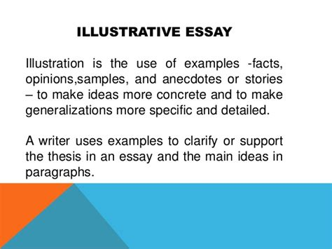 Illustrative Essay by Exle Of An Illustrative Essay Illustration Essay Peer Review Essaytopics Rutgers Essay