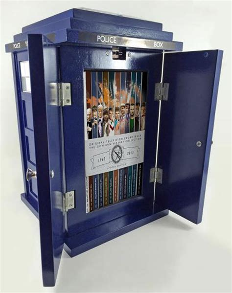tardis box silvascreen 50th anniversary tardis merchandise guide