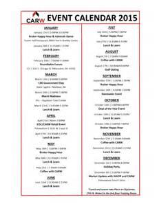Calendar Of Events 2015 2015 Event Calendar Carw