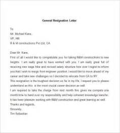 Sle Resign Letter Format by Resignation Letter Template 38 Free Word Pdf Documents