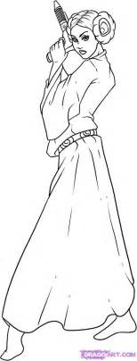 coloring pages of princess leia how to draw princess leia step by step wars
