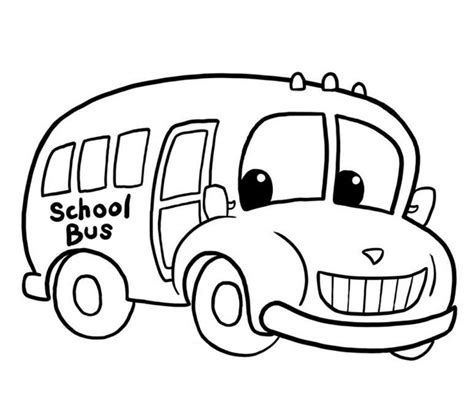 free coloring pages of autobus with driver