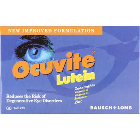 Suplemen Lutein ocuvite lutein supplement 60 tablets clicks