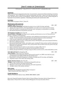 Financial Advisor Resume Example Financial Advisor Resume Student Resume Template