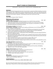 financial advisor resume student resume template