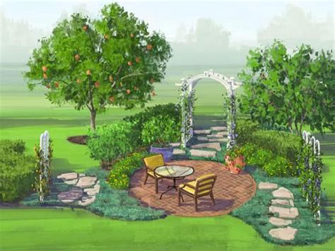 backyard landscape design plans how to plan a fruit garden in florida hgtv
