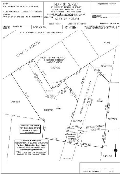 final layout meaning cromer partners surveyors tasmanian consulting
