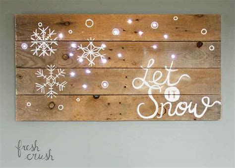 holidays lighted sign diy pallet sign