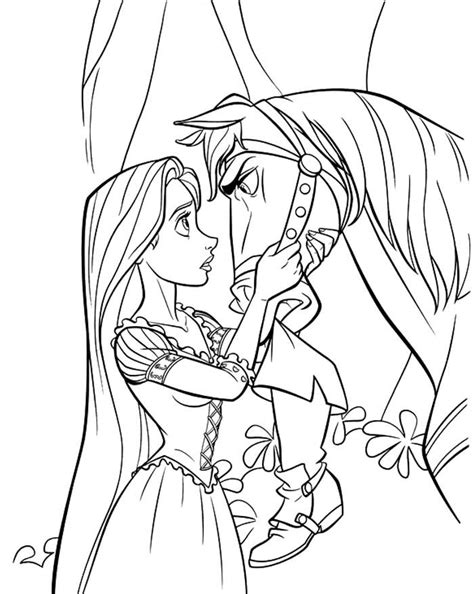 coloring pages of tangled coloring home