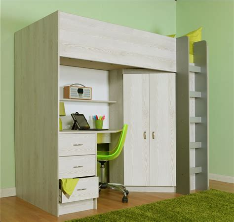 Mid Sleeper Beds For Adults by High Sleeper Cabin Bed Calder Light Wood Grain