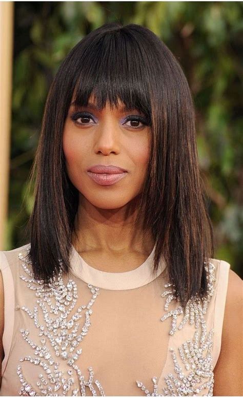 kerry washington hair pin up kerry washington straigh hairstyle with bangs evawigs