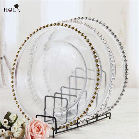 stocked   wedding clear silvergold glass