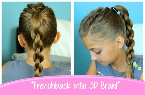 back to school hairstyles college single frenchback into round braid back to school