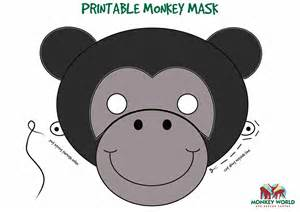 monkey mask template monkey world ape rescue centre