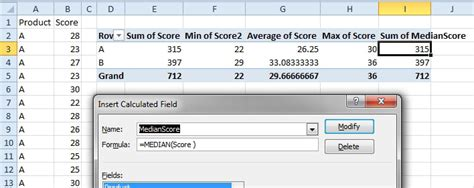 excel calculated fields in a pivot table