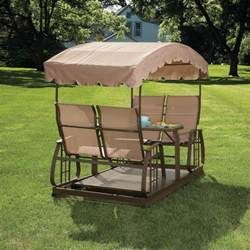 patio swings and gliders garden oasis cg 7a200b 4 person glider swing sears