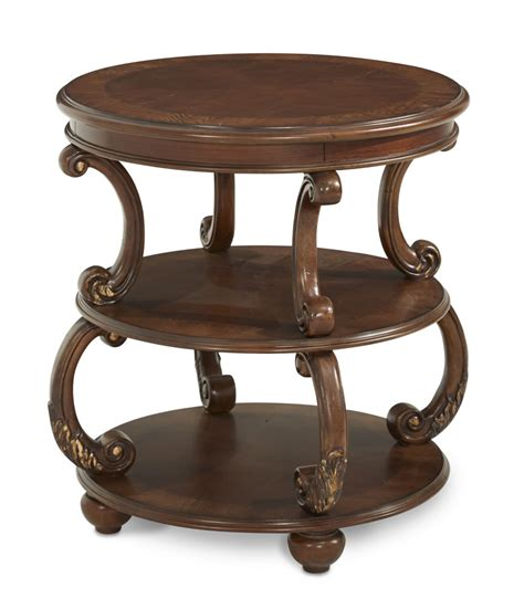 side table and l round end tables crombach round end table weathered pine