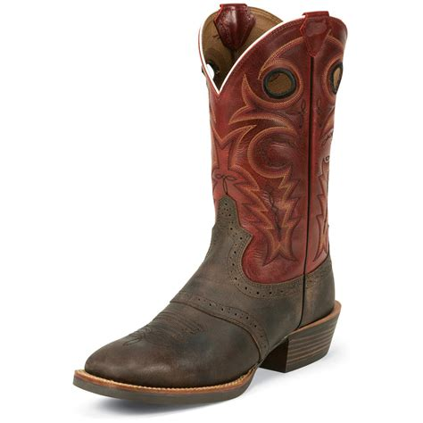 justin silver boots justin s chocolate buffalo silver collection cowboy