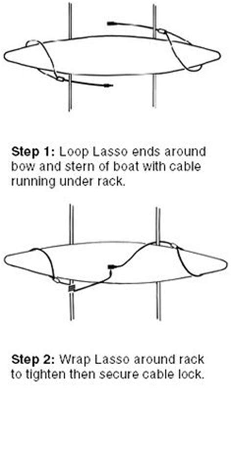 How To Attach Kayak To Roof Rack by Canoe Roof Rack Lasso Security Systems Kayak Rack Canoe Lock For Car Roof Racks