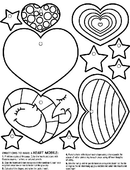 crayola coloring pages human heart heart mobile coloring page crayola com