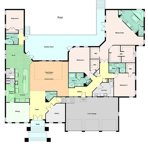 house plan custom home modern plans floor