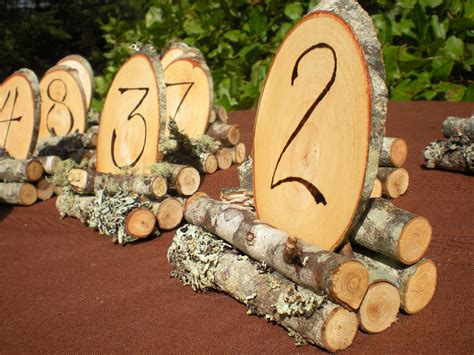 Wooden Table Numbers Wedding by Wood Wedding Table Numbers Rustic Wedding 1 8 By
