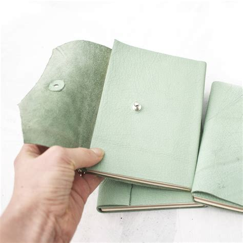 Handmade Leather Notebooks - handmade leather notebook by swag and tassel