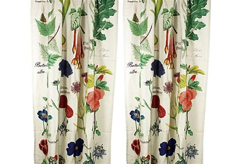 Curtains Botanical Print Botanical Curtain Panels Pair Home Sweet Home Pinterest Products Curtain Panels And Diy