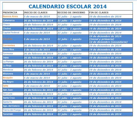 calendario escolar 2016 salta al mundo educativo calendario escolar 2014