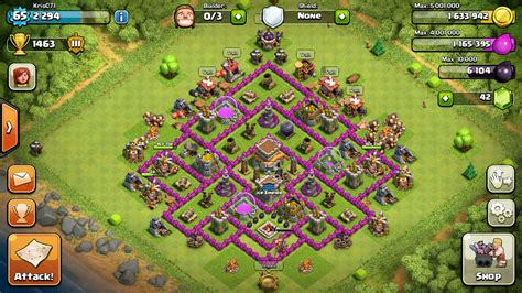 layout level 8 town hall base layouts ice empire