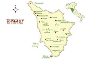 towns map tuscany cities map and tourism guide