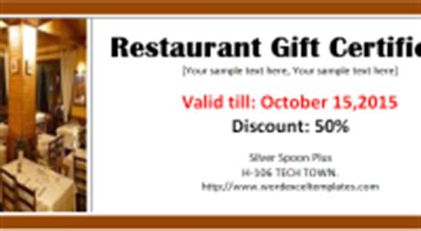free restaurant gift certificate template well done award certificate template word excel templates