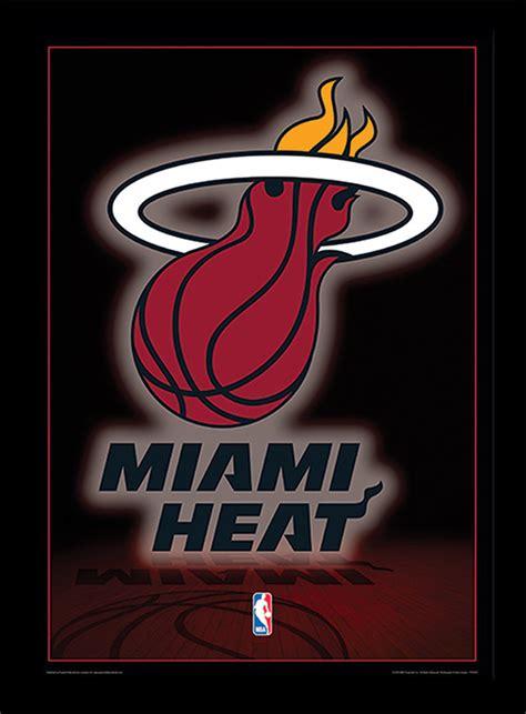 imagenes de miami heats poster emoldurado de vidronba miami heat logo em