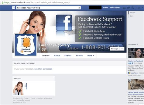fb help facebook recovery scam accounts share phishing link