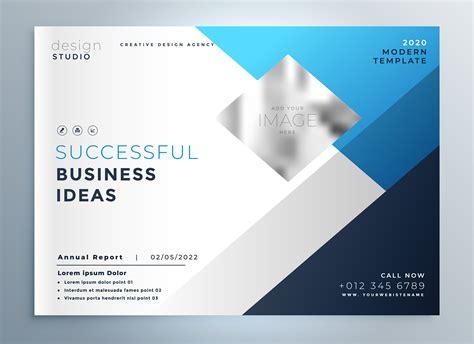 Modern Blue Business Brochure Flyer Template Presentation Download Free Vector Art Stock Presentation Flyer Template
