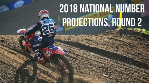 ama motocross national numbers 2018 ama national number projections round 2 motocross