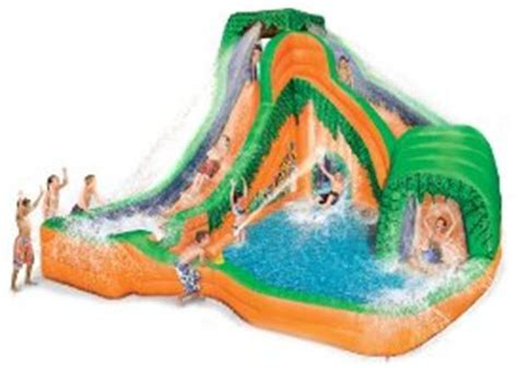 backyard blow up water slides blow up backyard water slide image mag
