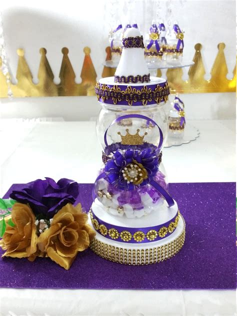 Baby Shower Centerpiece For Royal Purple Baby Shower Royal Royal Baby Shower Centerpieces