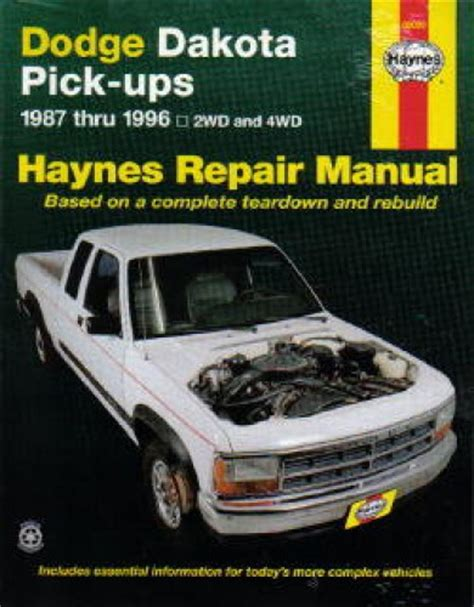 download car manuals pdf free 2003 dodge dakota club engine control haynes dodge dakota pickup truck 1987 1996 repair manual
