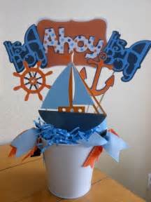 nautical themed baby shower centerpieces items similar to nautical theme quot ahoy it s a boy quot baby