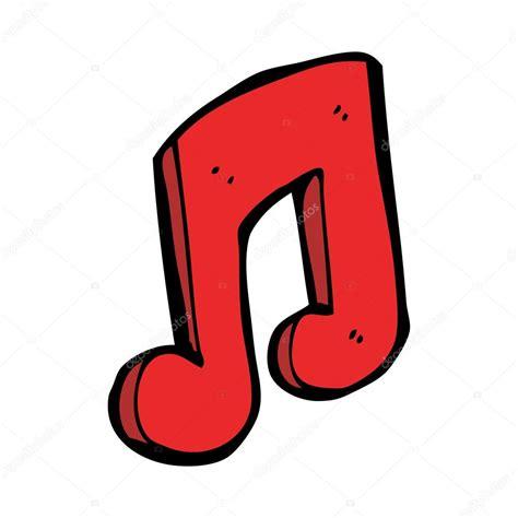 imagenes musicales animadas nota musical de dibujos animados vector de stock