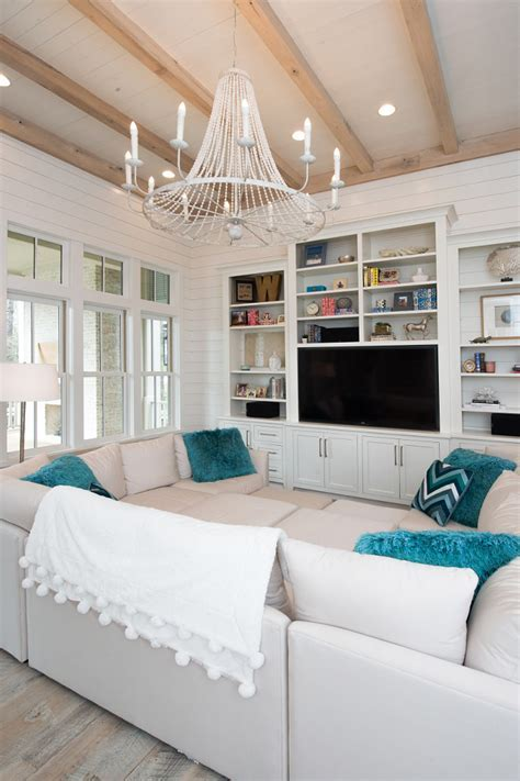 Beach House with Transitional Coastal Interiors   Home