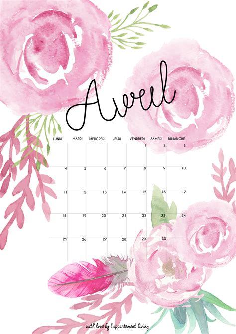 Calendrier Avril 2016 Calendrier Mensuel Imprimable Sur Excel 2017 2018 Best