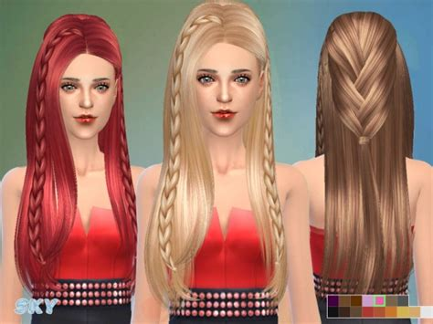 sims 3 hair braid tsr the sims resource over sims 4 hairs the sims resource fashion braided