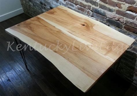 Live Edge Kitchen Table Made Live Edge Dining Table Kitchen Table Breakfast Table Writing Desk Sustainable Wood