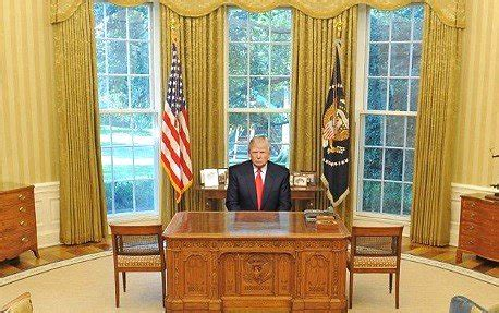trump oval office desk orange steel djt pic heavy democratic underground
